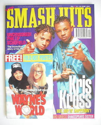 <!--1992-06-10-->Smash Hits magazine - Kris Kross cover (10-23 June 1992)