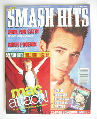 <!--1992-05-13-->Smash Hits magazine - Luke Perry cover (13-26 May 1992)