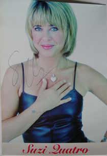 Suzi Quatro autograph