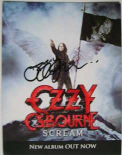 Ozzy Osbourne autograph