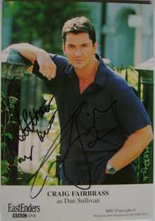 Craig Fairbrass autograph (ex EastEnders actor)