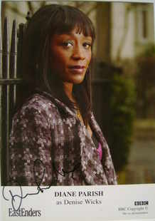 Diane Parish autograph (EastEnders actor)
