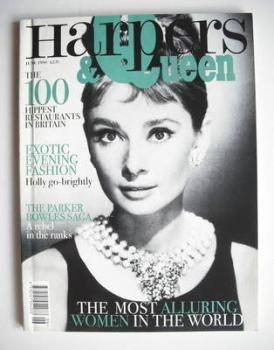 British Harpers & Queen magazine - June 1996 - Audrey Hepburn cover
