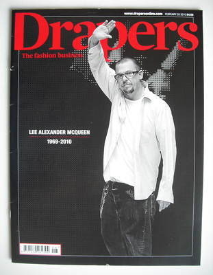 Drapers magazine - Lee Alexander McQueen cover (20 February 2010)