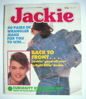<!--1987-04-25-->Jackie magazine - 25 April 1987 (Issue 1216)