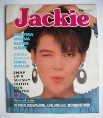 <!--1987-04-18-->Jackie magazine - 18 April 1987 (Issue 1215)