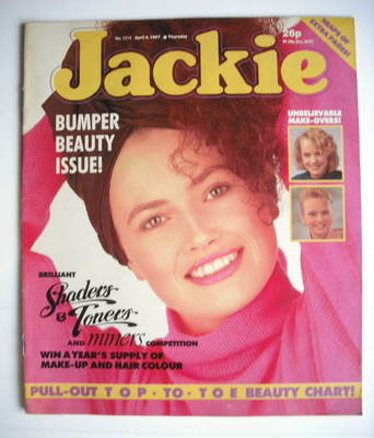 <!--1987-04-04-->Jackie magazine - 4 April 1987 (Issue 1213)