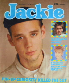 Jackie magazine - 14 March 1987 (Issue 1210 - Ben Volpeliere-Pierrot cover)