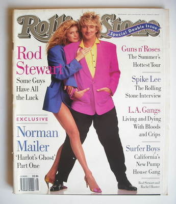 Rolling Stone magazine - Rod Stewart and Rachel Hunter cover (11-25 July 19