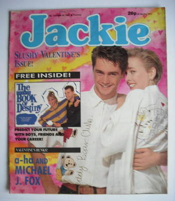 <!--1987-02-14-->Jackie magazine - 14 February 1987 (Issue 1206)