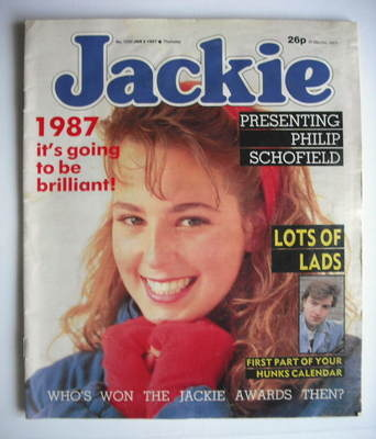 <!--1987-01-03-->Jackie magazine - 3 January 1987 (Issue 1200)