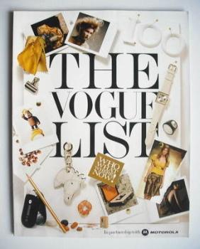 British Vogue supplement - The Vogue List (2005)