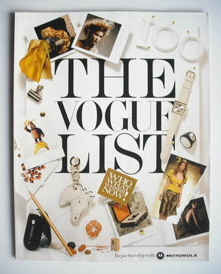 British Vogue supplement - The Vogue List (2005)