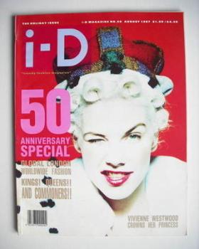 i-D magazine - Sarah Stockbridge cover (August 1987 - Issue 50)