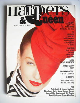 <!--1986-05-->British Harpers & Queen magazine - May 1986