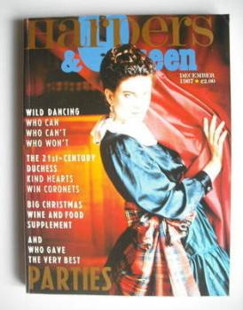 British Harpers & Queen magazine - December 1987