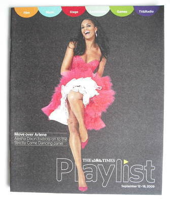 The Times Playlist magazine - 12 September 2009 - Alesha Dixon cover