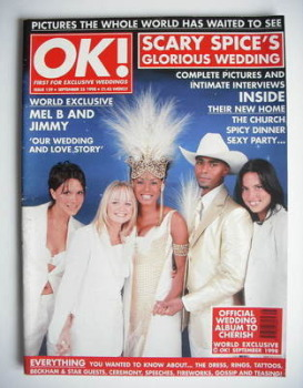 OK! magazine - Scary Spice's Glorious Wedding cover (25 September 1998 - Issue 129)