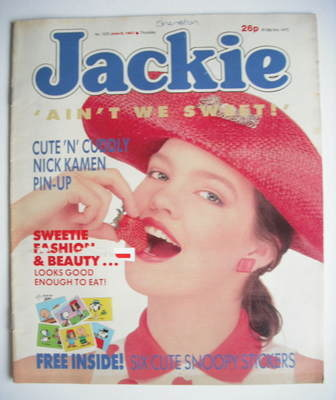 <!--1987-06-06-->Jackie magazine - 6 June 1987 (Issue 1222)