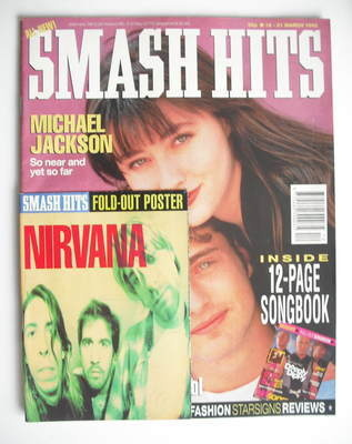 <!--1992-03-18-->Smash Hits magazine - Shannen Doherty and Jason Priestley