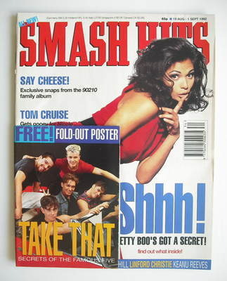 <!--1992-08-19-->Smash Hits magazine - Betty Boo cover (19 August - 1 Septe