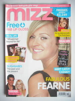MIZZ magazine - Fearne Cotton cover (9-22 August 2007)
