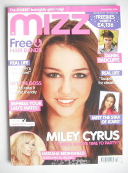 MIZZ magazine - Miley Cyrus cover (6-19 March 2008)