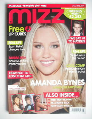 MIZZ magazine - Amanda Bynes cover (21 February - 5 March 2008)