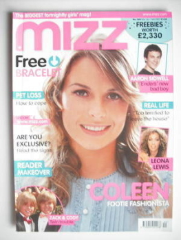 MIZZ magazine - Coleen McLoughlin cover (1-14 November 2007)