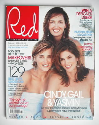 <!--2003-02-->Red magazine - February 2003 - Yasmin Le Bon, Gail Elliott an
