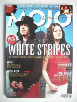 MOJO magazine - The White Stripes cover (August 2005 - Issue 141)