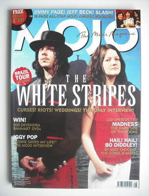 <!--2005-08-->MOJO magazine - The White Stripes cover (August 2005 - Issue