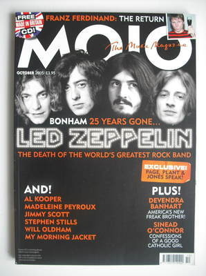 <!--2005-10-->MOJO magazine - Led Zeppelin cover (October 2005 - Issue 143)