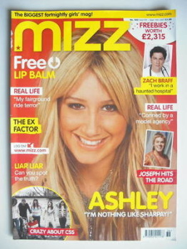 MIZZ magazine - Ashley Tisdale cover (6-19 September 2007)