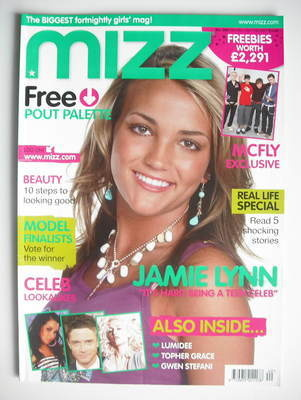 MIZZ magazine - Jamie Lynn Spears (4-17 October 2007)