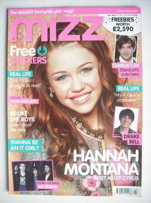 MIZZ magazine - Miley Cyrus cover (18-31 October 2007)