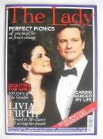 <!--2010-08-03-->The Lady magazine (3 August 2010 - Colin Firth and Livia Firth cover)