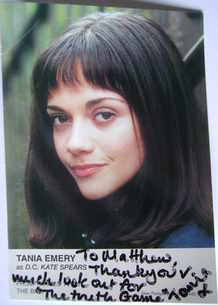 Tania Emery autograph (ex The Bill actor)