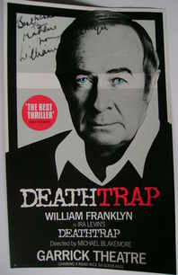 William Franklyn autograph (hand-signed theatre flyer)