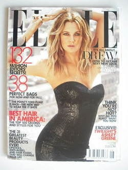 US Elle magazine - August 2010 - Drew Barrymore cover