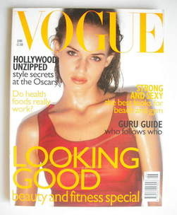 <!--1997-06-->British Vogue magazine - June 1997 - Amber Valletta cover