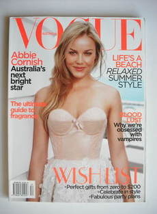 Vogue Australia magazine - December 2009 - Abbie Cornish cover