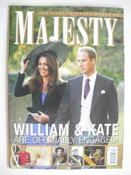 <!--2010-12-->Majesty magazine - Prince William and Kate Middleton cover (D