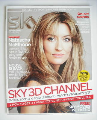 Sky TV magazine - October 2010 - Natascha McElhone cover