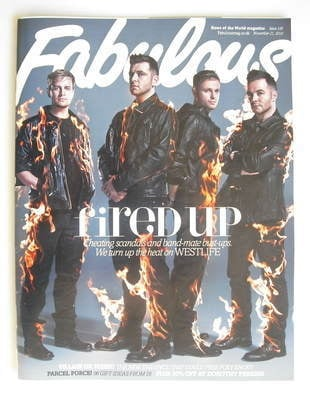 <!--2010-11-21-->Fabulous magazine - Westlife cover (21 November 2010)