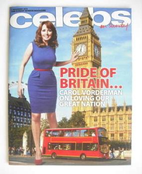 Celebs magazine - Carol Vorderman cover (7 November 2010)