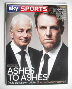 Sky Sports magazine - December/January 2011 - David Gower and Graeme Swann cover