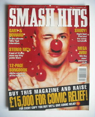 <!--1993-03-03-->Smash Hits magazine - Right Said Fred cover (3-16 March 19