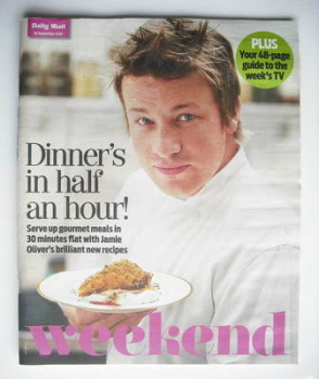 <!--2010-09-18-->Weekend magazine - Jamie Oliver cover (18 September 2010)