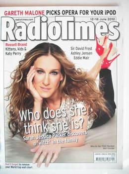 <!--2010-06-12-->Radio Times magazine - Sarah Jessica Parker cover (12-18 J